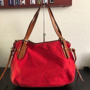 Dooney & Bourke red canvas purse